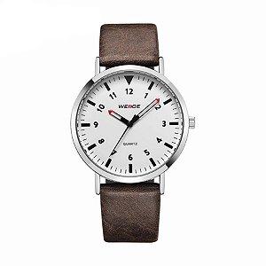 Relógio Masculino Weide Analógico WD003 Marrom/Branco