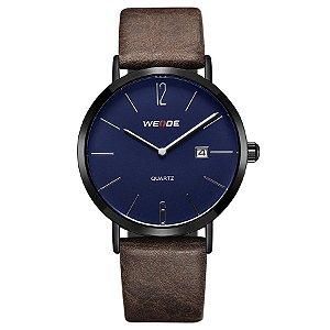 Relógio Masculino Weide Analógico WD007 Marrom/Preto