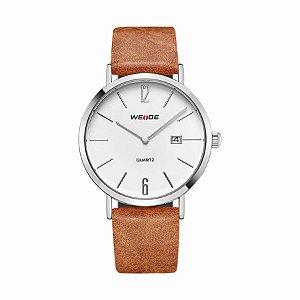 Relógio Masculino Weide Analógico WD007 Marrom/Prata