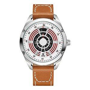 Relógio Masculino Weide Analógico UV-1701 Marrom/Prata