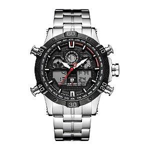 Relógio Masculino Weide Anadigi WH-6901 - PT