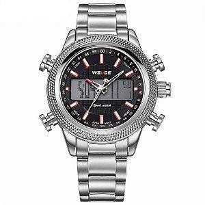 Relógio Masculino Weide Anadigi WH-3406 - PT