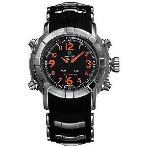 Relógio Masculino Weide Anadigi WH-1106 Laranja
