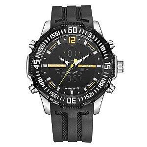 f2c832752b4 Relógio Masculino Weide Anadigi WH-6105 - Preto