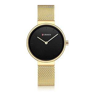 29a4aa20446 Relógio Feminino Curren Analógico C9016L - Dourado