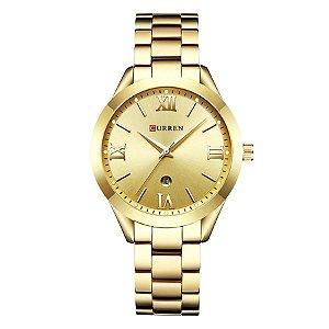 c7af4968eb8 Relógio Feminino Curren Analógico C9007L - Dourado