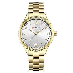 aba74b0f659 Relógio Feminino Curren Analógico C9003L - Dourado