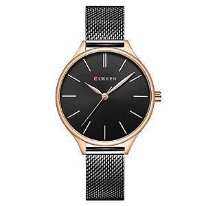 Relógio Feminino Curren Analógico C9024L - Preto