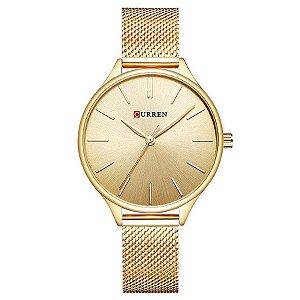 e0e3ac5ac1f Relógio Feminino Curren Analógico C9024L - Dourado