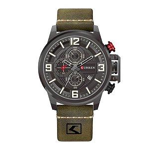 Relógio Masculino Curren Analógico 8278 - Preto e Verde