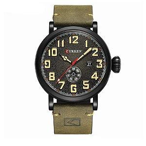 Relógio Masculino Curren Analógico 8283 - Preto e Verde