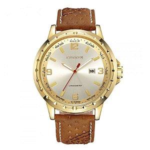 Relógio Masculino Curren Analógico 8120 - Dourado