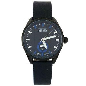 Relógio Masculino Analógico Social Berze BT170M Preto e Azul