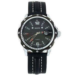 Relógio Masculino Analógico Skone  9117B Preto