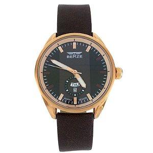 Relógio Masculino Analógico Berze BT170M Marrom com preto