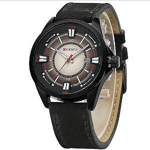 Relógio Masculino Curren Analógico 8155 Preto e Marrom