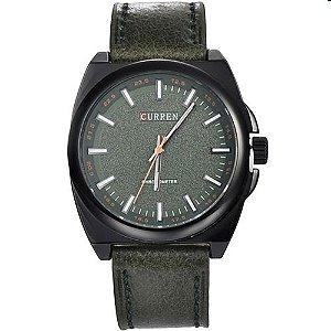 Relógio Masculino Curren Analógico 8168 Verde e Preto