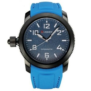 Relógio Masculino Curren Analógico 8173 Azul