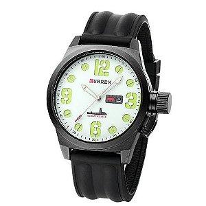Relógio Masculino Curren Analógico 8127 Preto e Branco