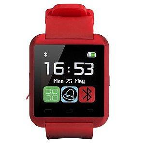 Relógio Masculino Bluetooth Smart U8Vermelho