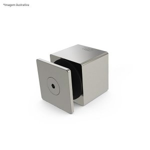 Prolongador quadrado para vidro - aço inox