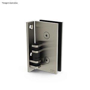 Ferragem 1114 para vidro (dobradiça automática Vidro x Alvenaria) - aço inox