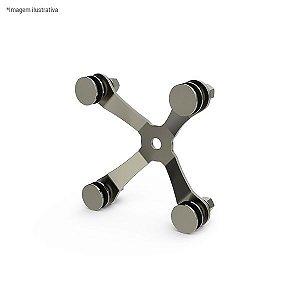 Spider 150 completo de 4 pontas c/ prisioneiro - aço inox