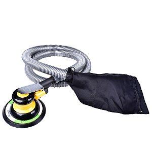 """Lixadeira Orbital 5"""" pneumática c/ aspirador"""