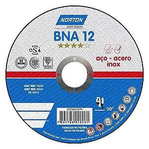Disco de corte fc 4.1/2x1,0 BNA 12