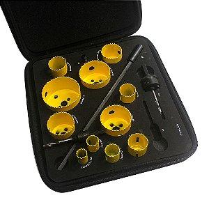 Jogo de serra copo encanador - 11 serras - 4 acessórios