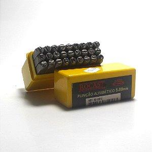 Jogo de punção - Alfabeto bater 5mm