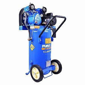 Compressor de ar pistão vertical 15 pés 76lts 140lbs monofásico PB15/76VM PUMA