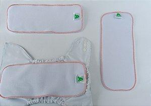 Chá da Júlia- Kit com 02 absorventes moletom 4 camadas