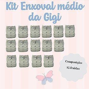 Kit Enxoval Médio da Gigi - Ideal para você que deseja usar exclusivamente as Fraldas Ecológicas mas não pode investir mais