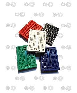 Mini Protoboard 170 Pontos - Várias cores.