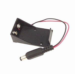 Case Suporte Bateria 9v + Pino 5.5 X 2.1mm Ac para Arduino