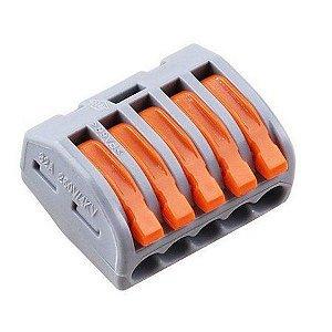 Conector Emenda Rápida Tipo Wago 5 terminais