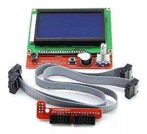CONTROLADOR GRÁFICO PARA PAINEL DE IMPRESSORA 3D REPRAP COM LCD 128X64 E SLOT SD
