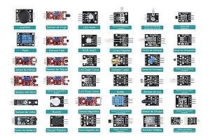 Kit Com 37 Módulos / Sensores Para Arduino