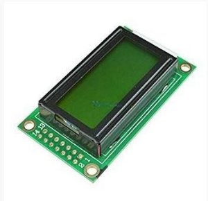 DISPLAY LCD 8X2 VERDE COM BACKLIGHT