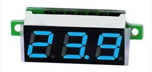 MINI DISPLAY VOLTIMETRO *AZUL*  0.28 POL 2.5-30V