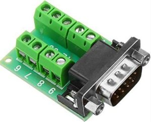 MODULO ADAPTADOR DB9 SERIAL RS232 *MACHO PARA BORNE