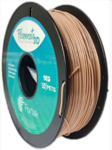 FILAMENTO PET-G 1,75 MM 1KG - COR MADEIRA (WOODEN)