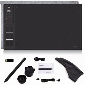 Mesa Digitalizadora Wireless Huion WH1409 (8192) com Luva