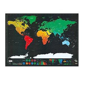 Mapa Mundi Raspar (40 x 30 cm)