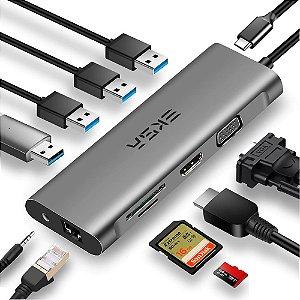 Hub Adaptador USB-C 11 em 1 Thunderbolt 3 EKSA