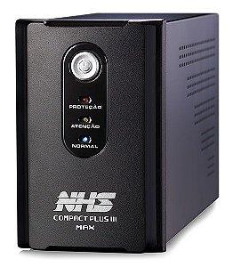NOBREAK COMPACT PLUS III MAX 1400VA NHS ENTRADA BIVOLT COM ENGATE E USB SAÍDAS 220V - 90.C0.014108
