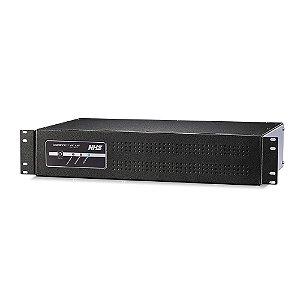 NOBREAK RACK COMPACT PLUS SENOIDAL 1000VA 2U 600W BIVOLT NHS SAÍDAS 220V COM USB - 91.A0.010554