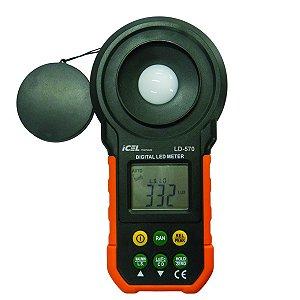 Luxímetro Icel Ld-570 Escala 20/200/2.000/20.000/200.000 Lux
