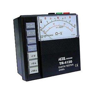 Terrômetro Analógico Icel Escalas: 10/100/1.000ohm Tr-4120